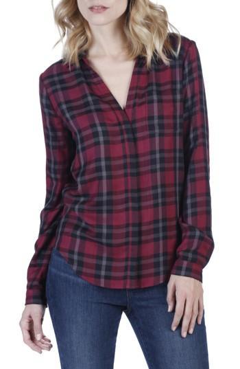 Women's Paige Everleigh Plaid Shirt - Red