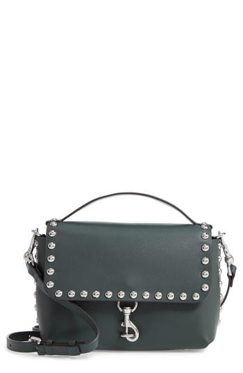 Rebecca Minkoff Blythe Medium Studded Leather Crossbody Bag - Green