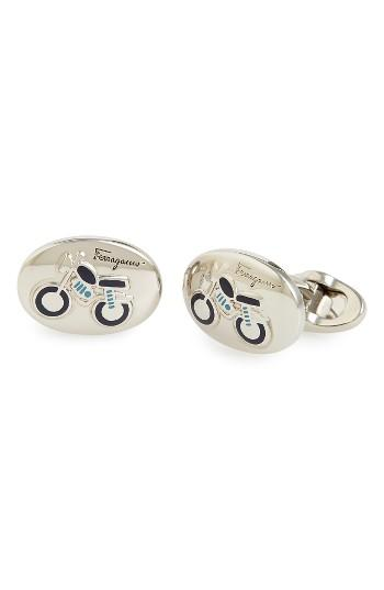 Men's Salvatore Ferragamo Motorcycle Cuff Links
