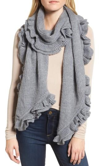 Women's Rebecca Minkoff Ruffle Muffler, Size - Grey