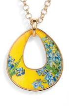 Women's Erwin Pearl Irises Open Teardrop Pendant Necklace