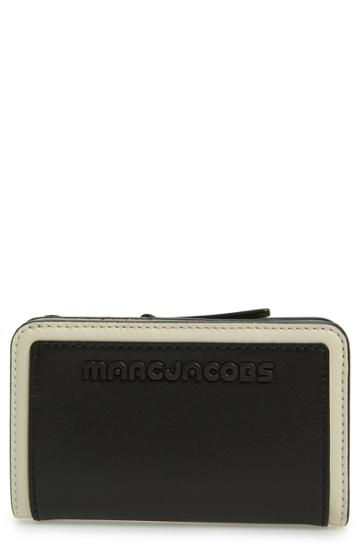 Women's Marc Jacobs Sport Compact Leather Wallet - Black