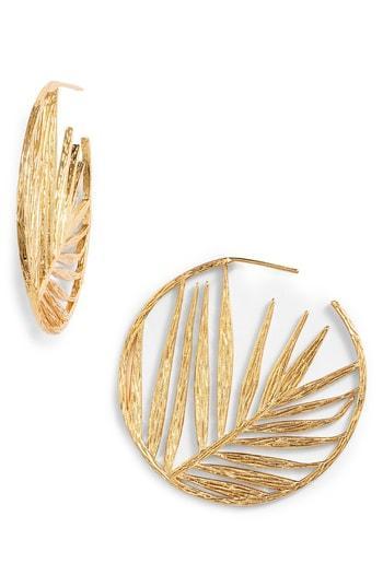 Women's Gorjana Palm Profile Hoop Earrings