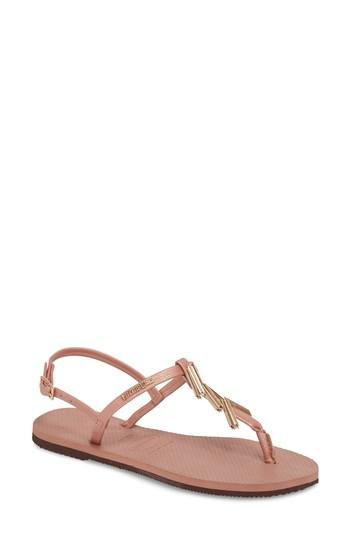 Women's Havaianas You Riviera Embellished Sandal /36 Br - Pink