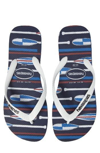Men's Havaianas Top Nautical Flip Flop /40 Br - Blue