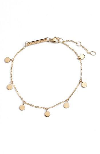 Women's Zoe Chicco Itty Bitty Round Disc Charm Bracelet