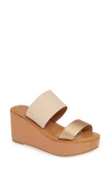 Women's Chinese Laundry Ollie 2 Wedge Slide Sandal M - Metallic