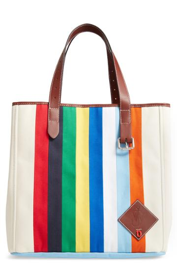 Jw Anderson Patchwork Belt Canvas Tote - Ivory