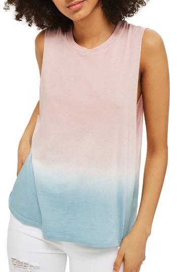 Women's Topshop Dip Dye Tank Us (fits Like 0) - Pink