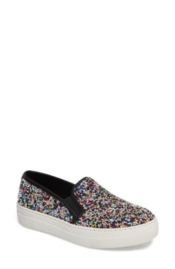 Women's Steve Madden Gracious Slip-on Sneaker .5 M - Metallic