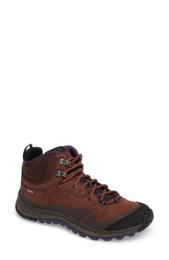 Women's Keen Terradora Leather Waterproof Hiking Boot M - Brown
