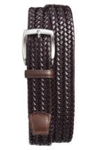 Men's Torino Belts Woven Leather Belt - Brown