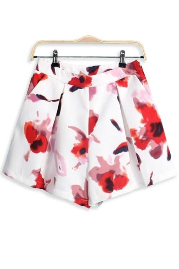 Oasap Pleated Floral Shorts