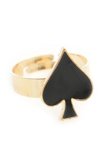 Oasap Heart Deco Ring