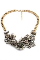 Oasap Vintage Layered Floral Alloy Necklace