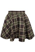 Oasap Plaid Woolen Skirt