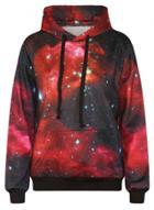 Oasap Galaxy Printed Gradient Color Pullover Hoodie