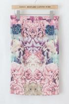 Oasap Floral Pencil Skirt