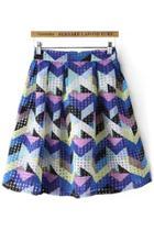 Oasap Geo Pattern Skirt