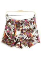 Oasap Floral Overlay Shorts