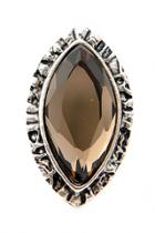 Oasap Vintage Black Faux Gemstone Ring