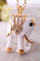 Oasap Noble Elephant Necklace
