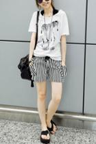 Oasap Striped Drawstring Hot Shorts