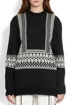 Oasap Vintage Geo Slouchy Sweater