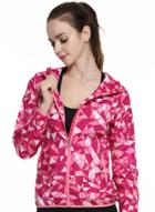 Oasap Printed Zip-up Hooded Sports Jacket