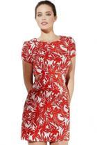 Oasap Sexy Cutout Foliage Bodycon Red Dress