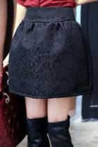 Oasap Floral Jacquard Skirt