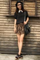 Oasap Sexy Leopard Pleated Shorts