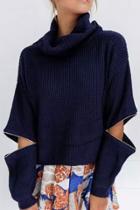 Oasap Cozy Pullover Turtle Neck Knit Sweater