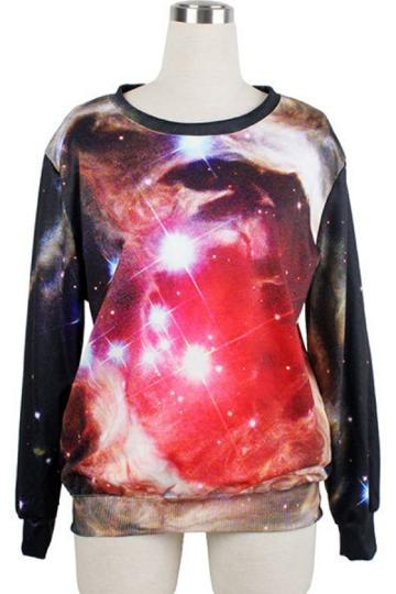 Oasap Street-chic Glitter Sweatshirt