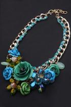 Oasap Floral Braided Bib Necklace