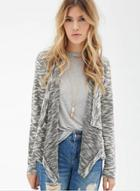 Oasap Irregular Long Sleeve Knit Cardigan Coat