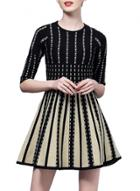 Oasap Women's Color Block Striped A-line Dress