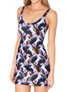 Oasap Bodycon Backless Sleeveless Printed Mini Dress
