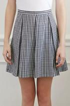 Oasap Elegant Plaid Print Pleated Skirt