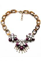 Oasap Luxe Faux Pearl Pendant Necklace