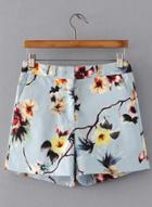 Oasap Fashion Floral Printed Shorts With Pockets