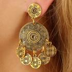 Oasap Vintage Round Circle Drop Earrings