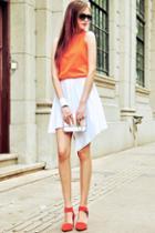 Oasap Irregular Hemline Zipped Mini Skirt