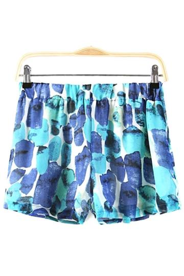Oasap Nautical Watercolor Shorts
