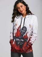 Oasap Long Sleeve Halloween Printed Pullover Hoodie