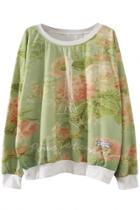 Oasap Fashion Eiffel Tower Printed Sweatshirt