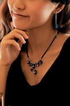 Oasap Heart Pendant Rhinestone Necklace