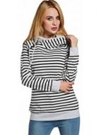 Oasap Long Sleeve Striped Pullover Hoodie