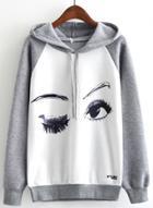 Oasap Printed Long Sleeve Pullover Hoodie