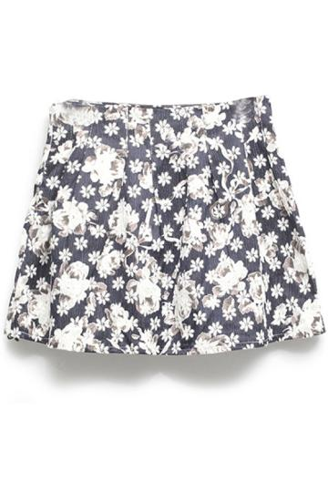 Oasap Wildflower Graphic Skirt